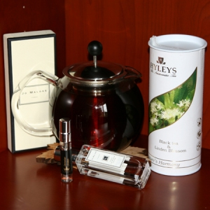 Linden blossom tea and perfume