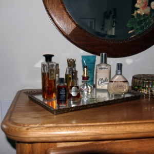 Perfumes on a Dresser