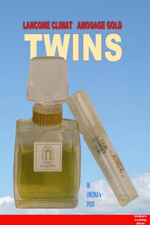 Twins: Lancome Climat & Amouage Gold