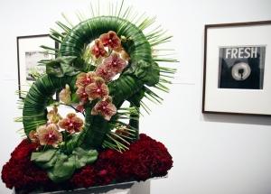 Arthur Tress, Untitled - photograph & flower arrangement