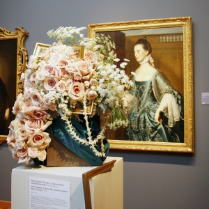 John Singleton Copley, Mrs. Daniel Sargent - painting & flower arrangement
