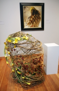 Frank Duveneck, Study for Guard of the Harem - painting & flower arrangement