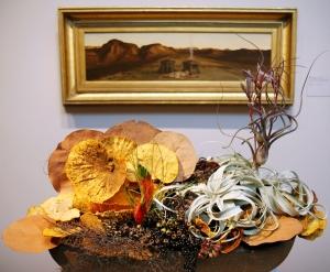 Elihu Vedder, Death of Abel - painting & flower arrangement