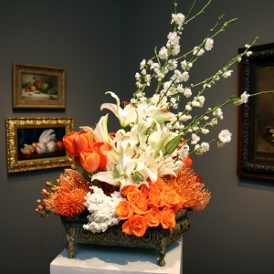 William Joseph McCloskey, Oranges in Tissue Paper - painting & flower arrangement