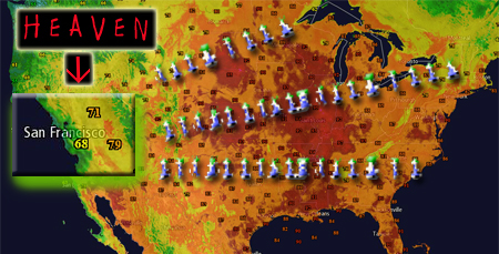 Temperature Map July 2nd