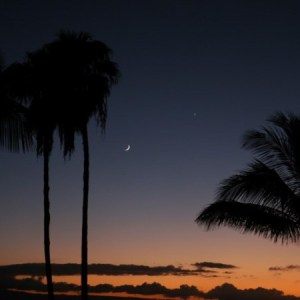 Disappearing Moon on Maui