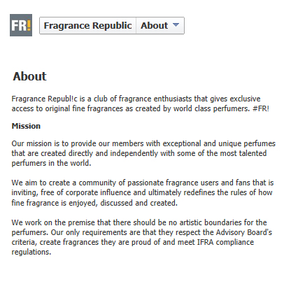 Fragrance Republic Mission Statement
