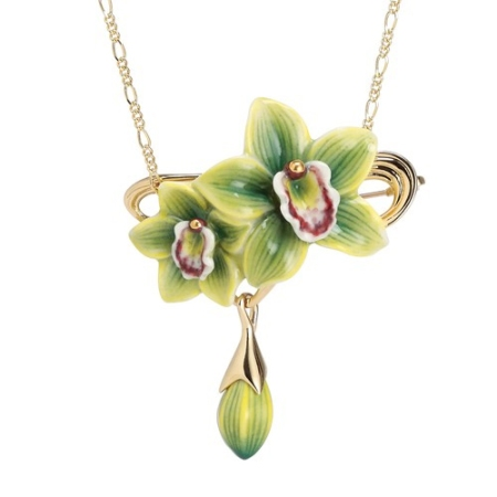 Franz Design Green Orchid Necklace