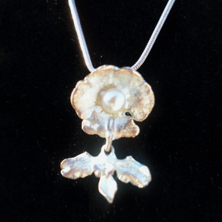 Michael Michaud White Orchid Neckklace