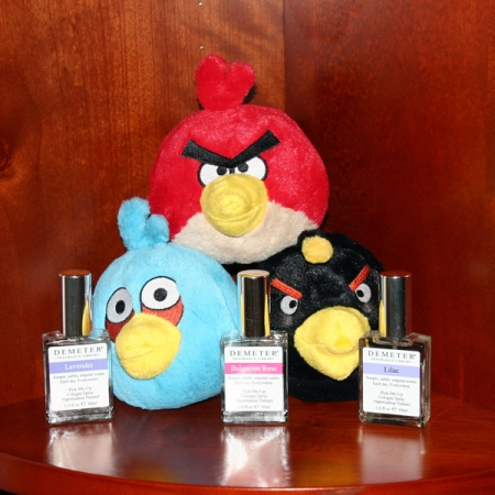 Angry Birds and 3 Demeter Perfumes