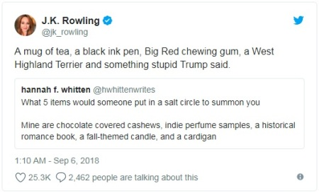 Summonning JK Rowling
