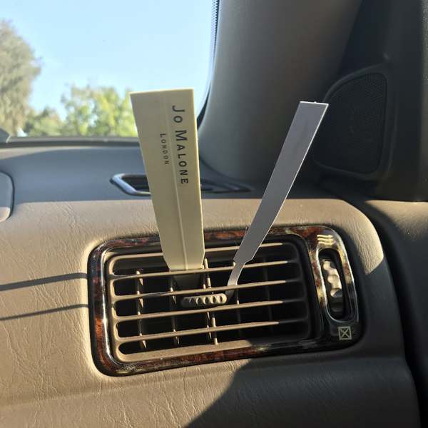 Blotters in a Car Vent