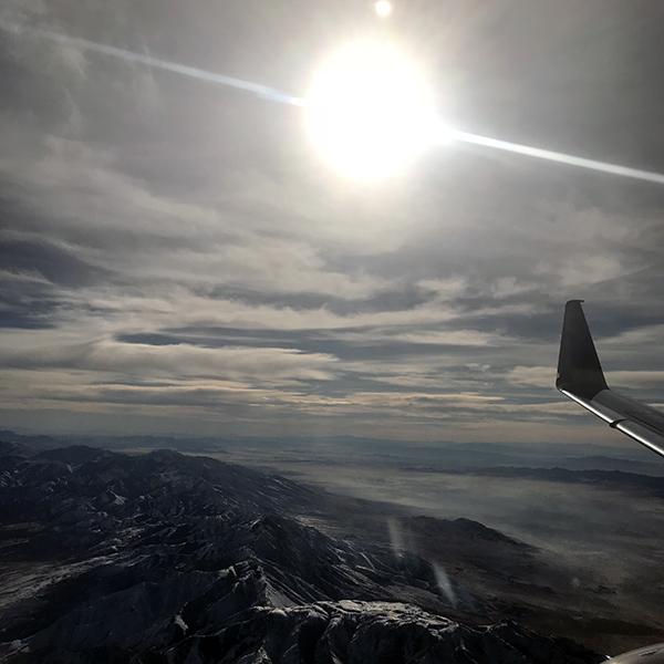 Sun from Plane Window