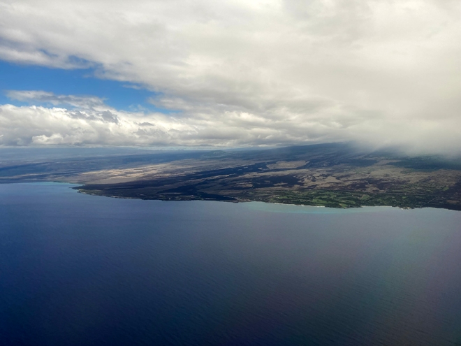 Flying into Kona 2021
